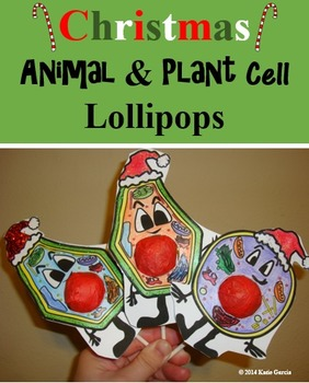 Animal Cell & Plant Cell Christmas Lollipops
