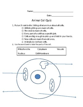 33 Label Parts Of A Cell Quiz - Labels For Your Ideas