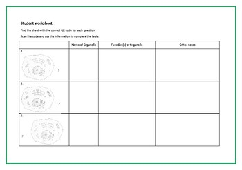 Animal Cell Structure Interactive QR Code Activity