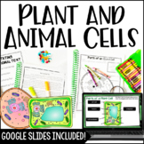 Cells (Plant and Animal Cells) with Google Slides and Form