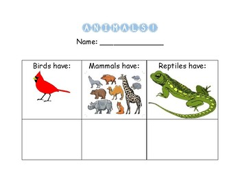 Animal Characteristic Sorting