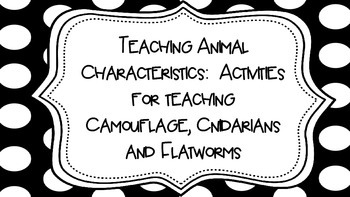 Animal Characteristics:  Activities for Camouflage, Cnidar