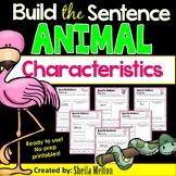 Animal Characteristics Build the Sentence