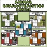 Animal Characteristics Bundle- Amphibians, Birds, Insects, Mammals, Reptiles