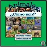 Animal Characteristics Adjective Worksheets - Las caracter
