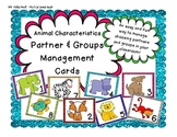 Animal Characteristics Partner & Group Management Cards (For up to 32 students)