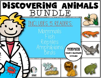 Animal Characteristics {Reader Bundle Set} Kindergarten &