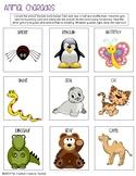 Animal Charade Cards