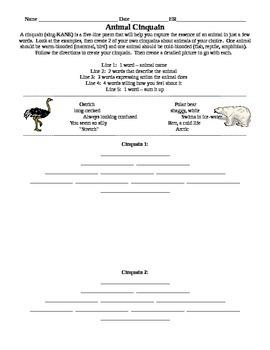 Animal Cinquain Poem