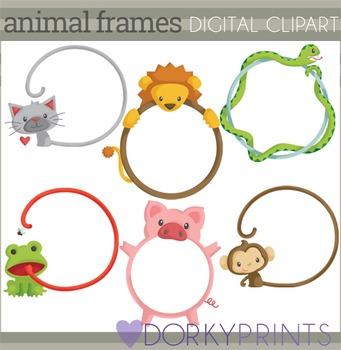 Animal Circle Frames Clip Art