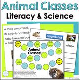 Animal Classes ~ Literacy & Science Cross-Curricular Unit