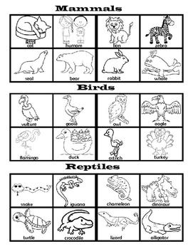 Animal Classes File Folder Game (ENGLISH AND SPANISH)