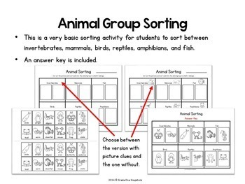 Animal Classification Printables and Powerpoint