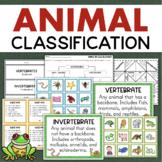 Vertebrates and Invertebrates Animal Classification Activities