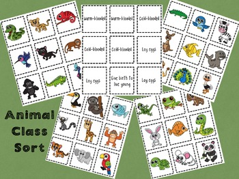 Animal Classification Activity Pack