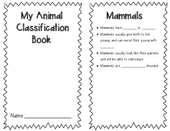 Animal Classification Book