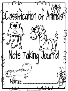 Animal Classification CKLA Note Taking Journal