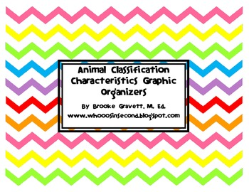 Animal Classification & Characteristics Craftivities and Graphic Organizers