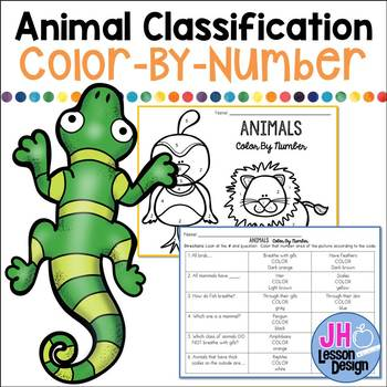 Types of Animals: Animal Classification Color-By-Number