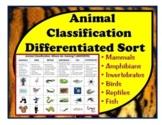 Animal Classification Cut & Paste: Sort animals by characteristics