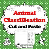 Animal Classification Cut and Paste Worksheets, No Prep, D