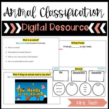 Animal Classification Digital Resource