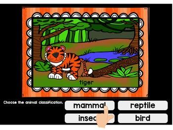 Animal Classification Digital Task Cards BOOM CARDS