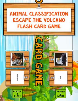 Animal Classification Escape the Volcano Flash Card Game