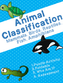 Animal Classification Fish, Birds, Mammals, Reptiles, Amphibians