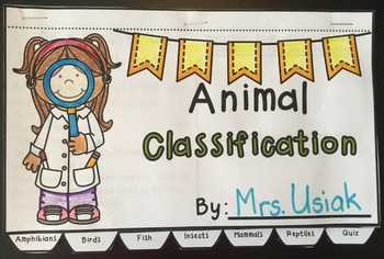 Animal Classification Flip Book Activity!  Great for Centers!  K-2