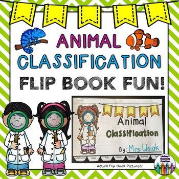 Animal Classification Flip Book Activity!  Great for Cente