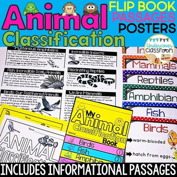 Animal Classification Flip Book, Poster & Sorting Set, Animals