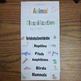 Animal Classification Flipbook!