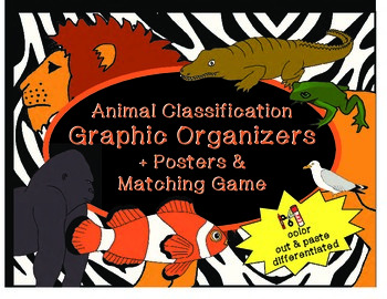 Animal Classification Graphic Organizers -Special Education