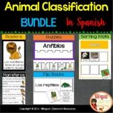 Animal Classification BUNDLE in Spanish-Clasificación de animales