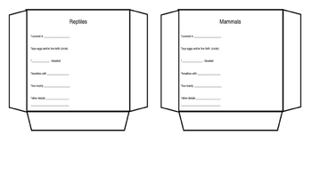 Animal Classification Interactive Notebook Activity