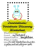 Animal Classification Invertebrate and Vertebrate Discovery