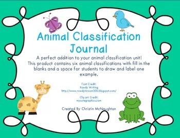 Animal Classification Journal