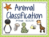 Animal Classification Lesson & Interactive Notebook Pages: 3rd Grade