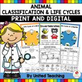 Animal Classification | Habitats | Life Cycles Digital Activities and Printables