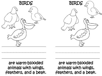 Animal Classification Mini Books
