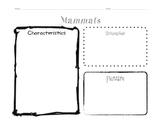 Animal Classification Mini Unit Packet