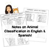 Animal Classification Notes, PowerPoint, and Poster Project