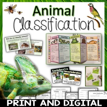 Animal Classification Pack Printables, Interactive Notebook, Posters, PowerPoint
