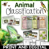 Animal Classification Pack Printables, Interactive Noteboo