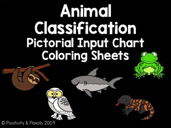 Animal Classification Pictorial Input Chart Coloring Pages