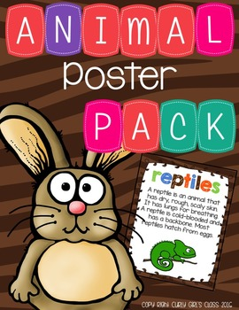 Animal Classification Poster Pack