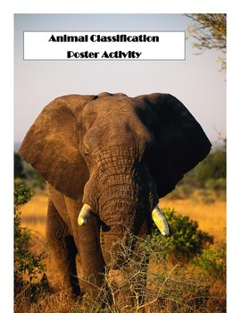Animal Classification Poster activity