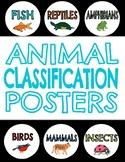 Animal Classification Posters ~ Reptile, Amphibian, Mammal