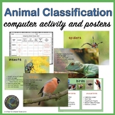 NGSS LS3 - Animal Classification Computer Activity and Posters